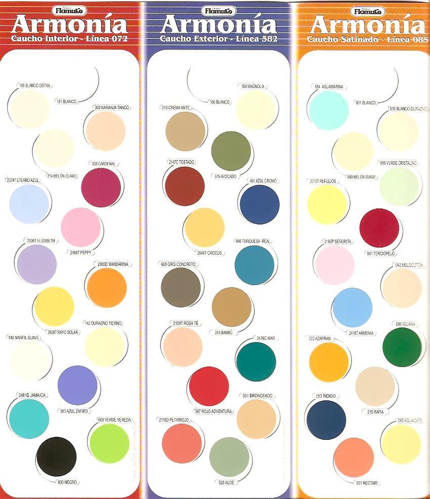 Pinturas y asesorias tenicas for Colores de pintura